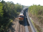 BNSF 7628 eastbound stack